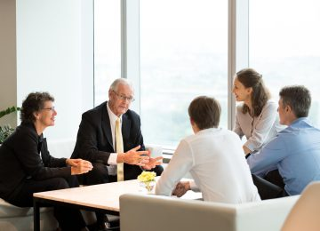Image of ESOP Experts discussing the value they can bring to this team's organization if they hire them