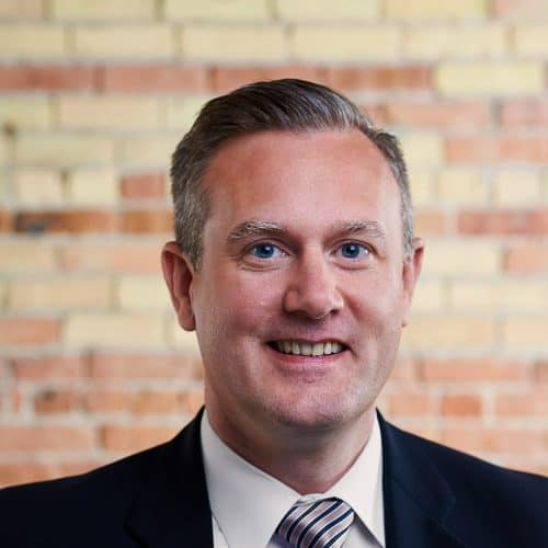 Image of Eric Larson in Beene Garter office