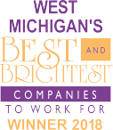 Image of West Michigan's Best and Brightest Companies to Work For Winner 2018 logo