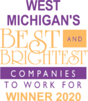 west michigan best and brightest companies to work for winner 2020 logo