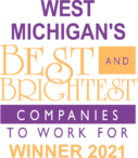 west michigan best and brightest companies to work for winner 2021 logo