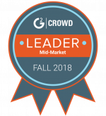 Image of G2 Crowd's Leader Award for Mid-Market Fall 2018