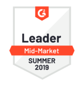 G2 Crowd Leader Mid-Market Summer 2019 logo
