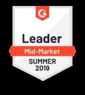 G2 Crowd Leader Mid-Market Summer 2019 logo