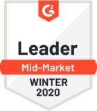 G2 Crowd Leader Mid-Market Winter 2020