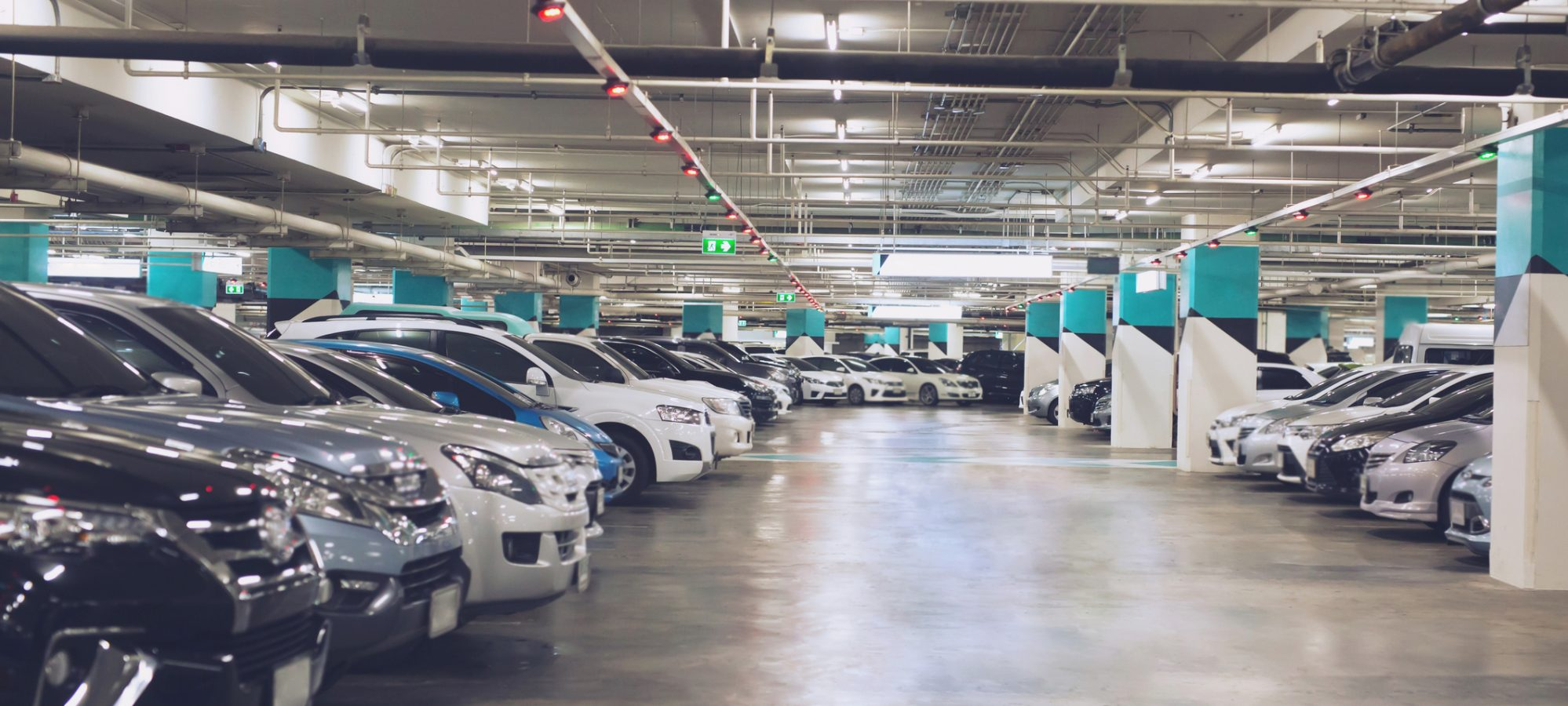 Image of cars in parking garage