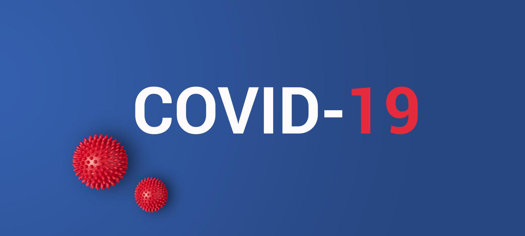 COVID-19 (coronavirus) with red balls