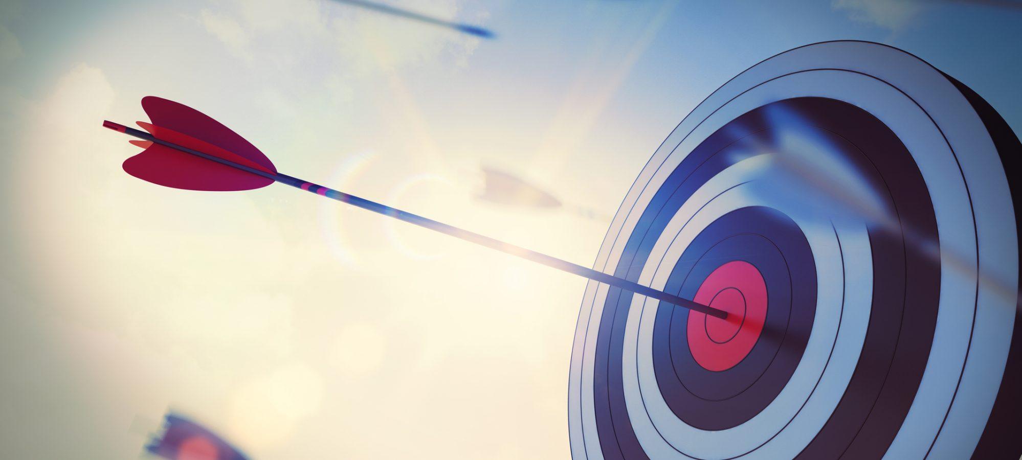 Image of arrow hitting center of target