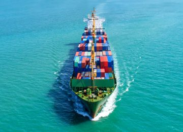 Image of container ship bringing imports to a boycotting countries